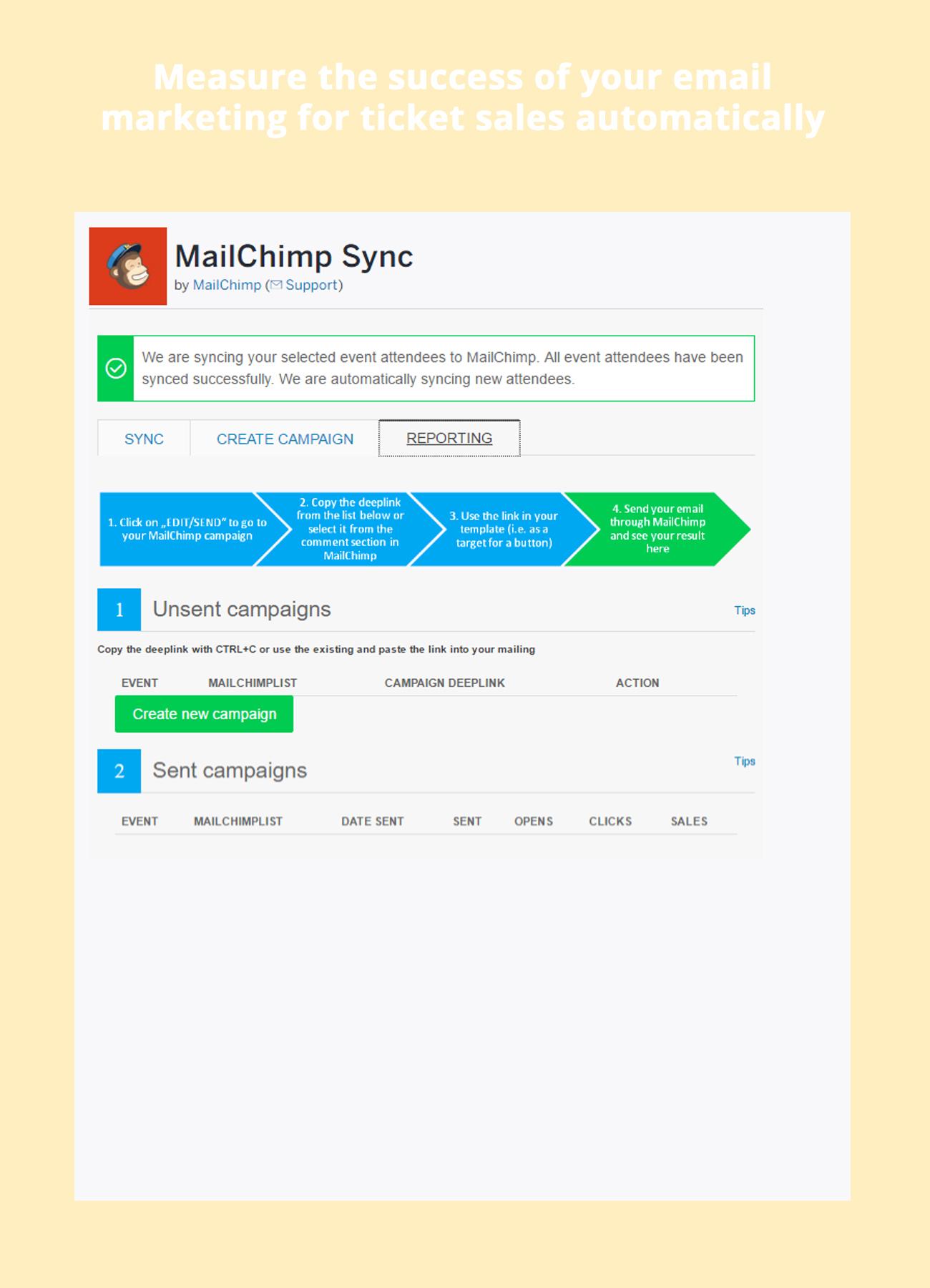 Eventbrite spectrum mailchimp sync screenshots saigontimesfo